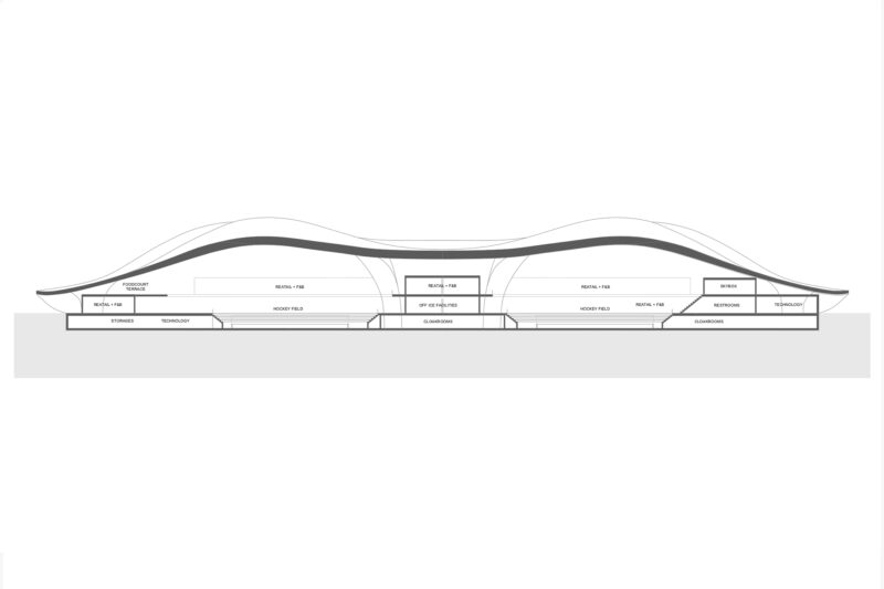 Parametric ice hockey stadium